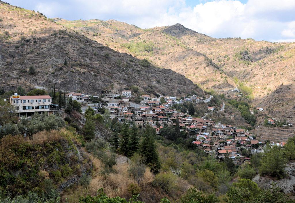 Bjergbyen Askas på Cypern