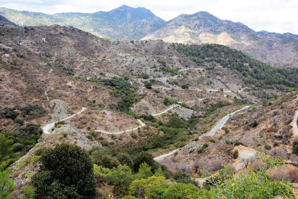 Troodosbjergene på Cypern