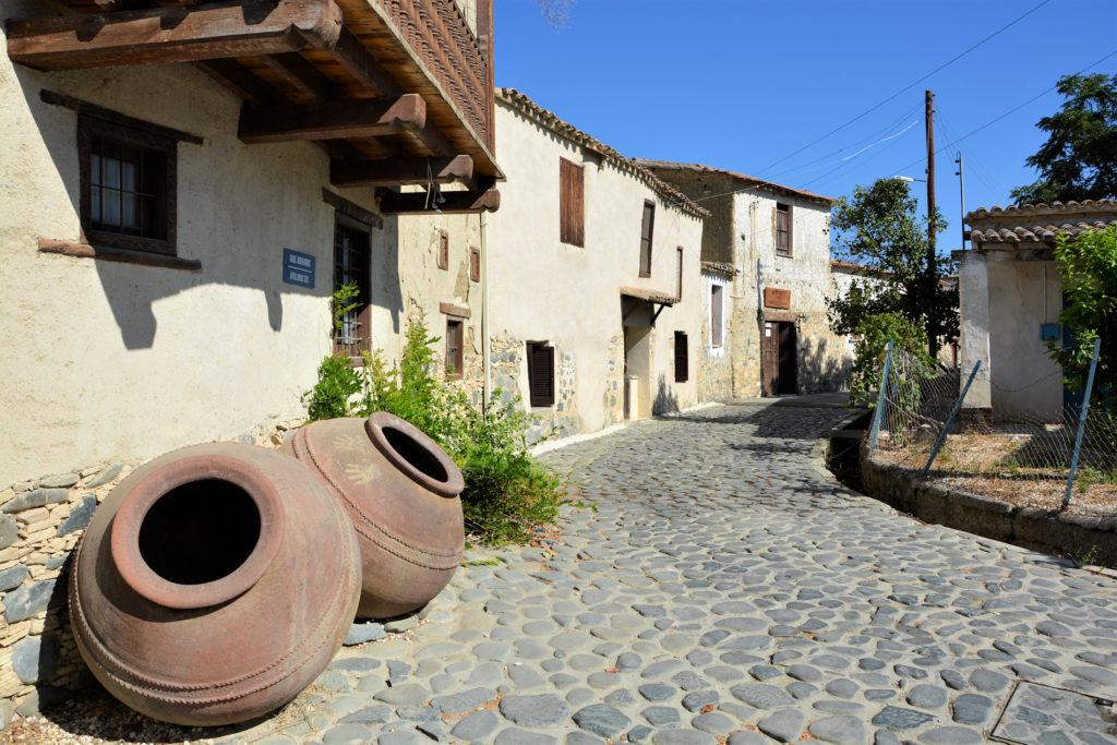 Landsby i Troodosbjergene på Cypern