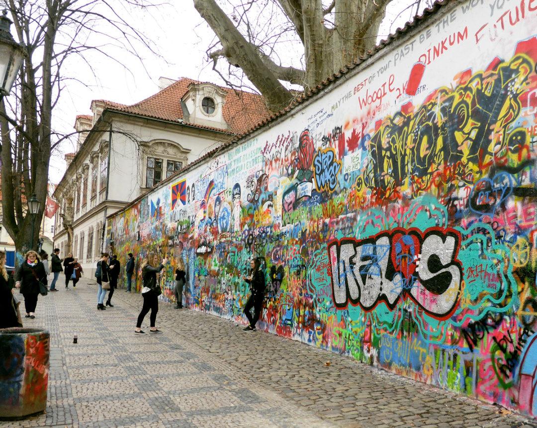 Lennonmuren i Prag