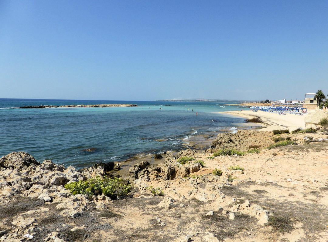 Stranden ved Ayia Thekla